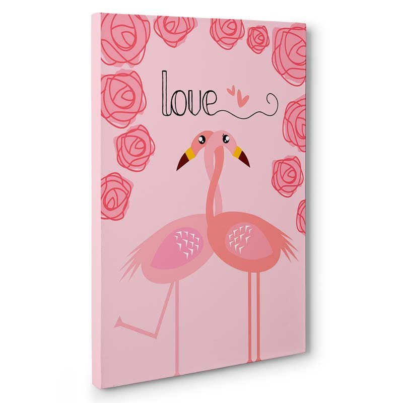 Stampa artistica Flamingo in love