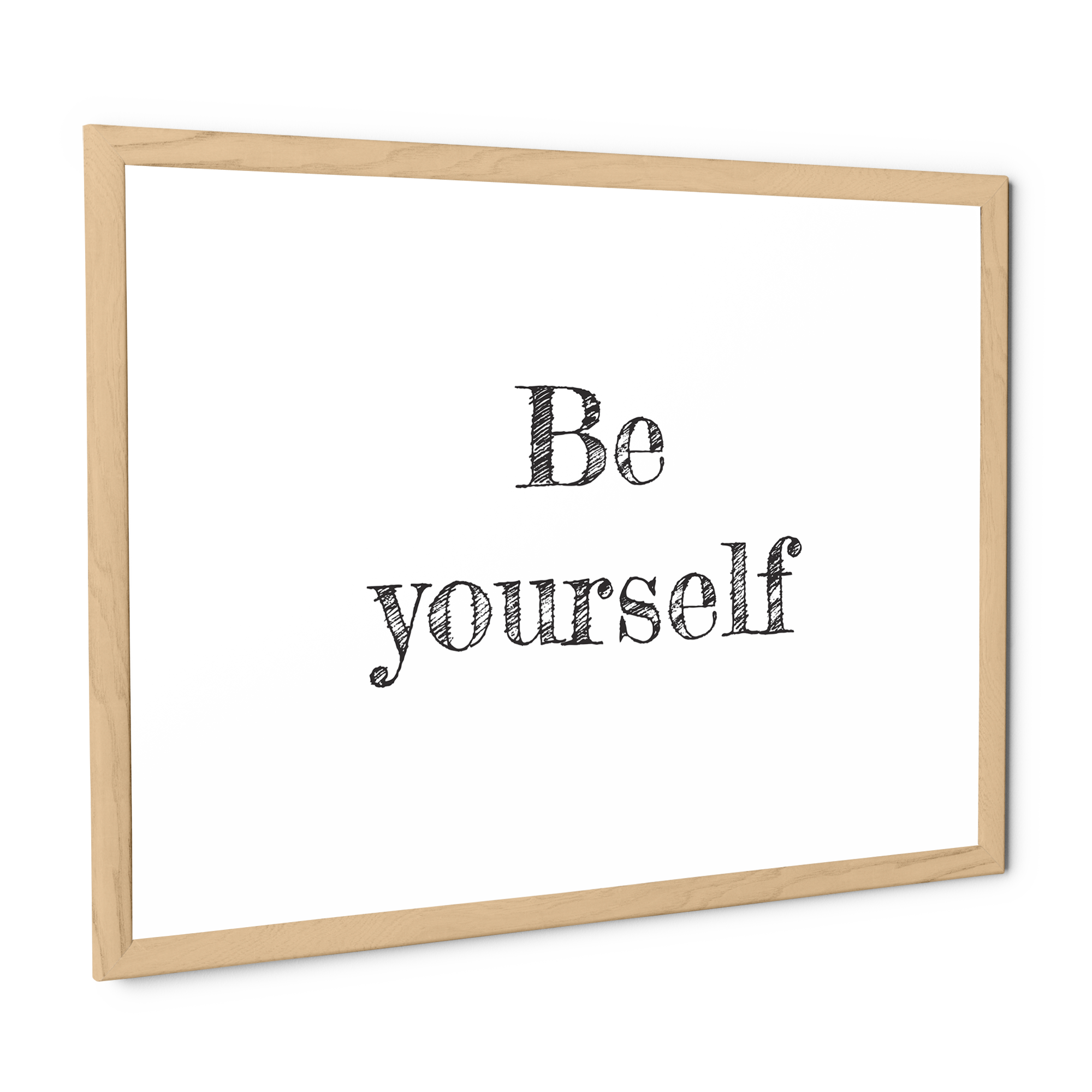 Stampa con cornice Be yourself