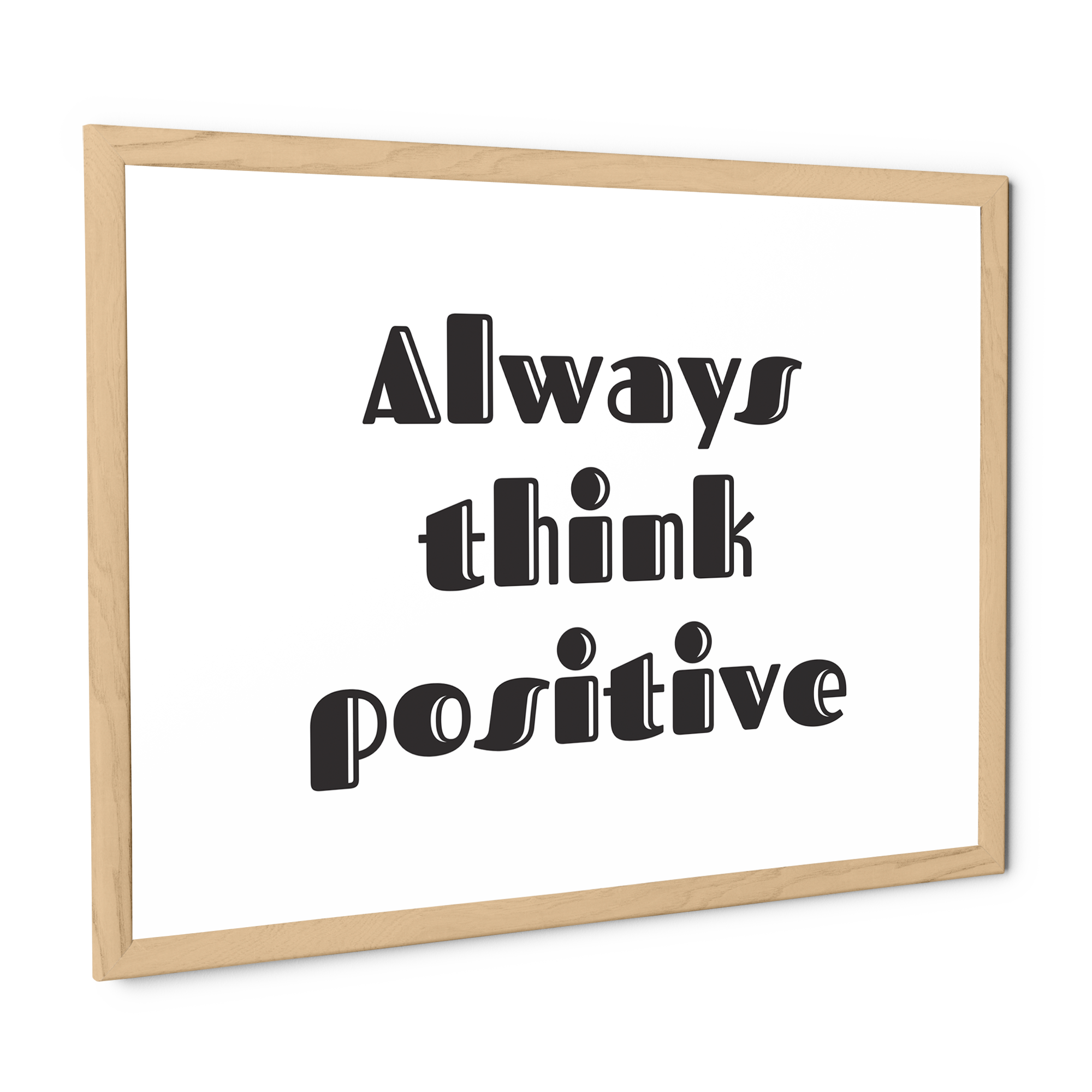 Stampa con cornice Think positive